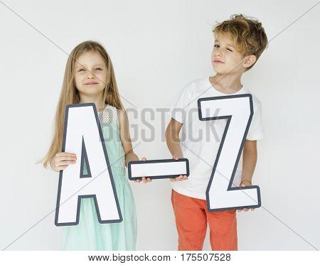 Kids Brother Sister Studio Shoot Gesture