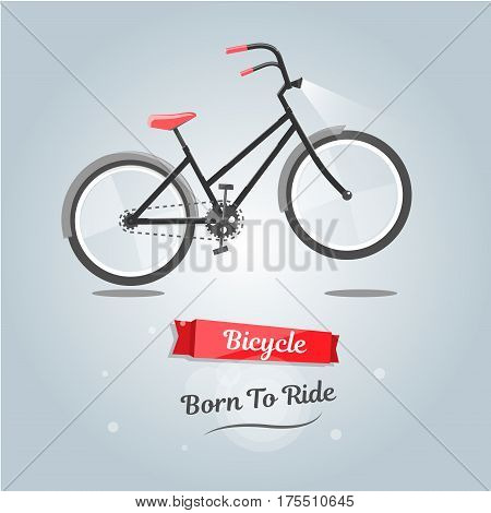 Born to ride a bike. New style for web site, cartoon graphics.