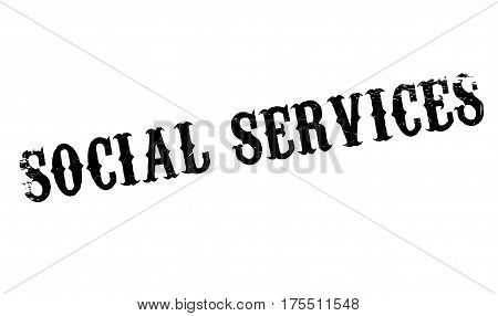 Social Services rubber stamp. Grunge design with dust scratches. Effects can be easily removed for a clean, crisp look. Color is easily changed.