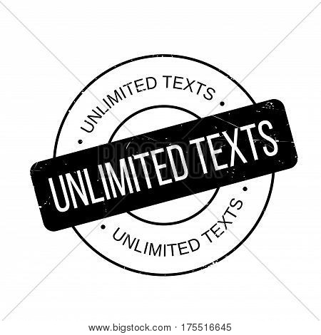 Unlimited Texts rubber stamp. Grunge design with dust scratches. Effects can be easily removed for a clean, crisp look. Color is easily changed.