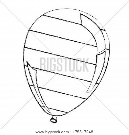 silhouette balloon with stripes independece day icon, vector illustraction design