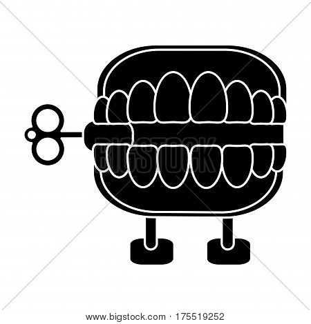 april fools  day chattering teeth pictogram vector illustration eps 10