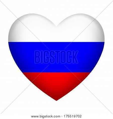 Heart shape of Russia insignia isolated on white
