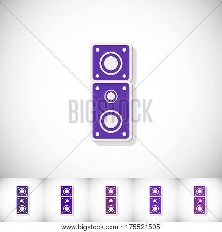 Amplifier. Flat sticker with shadow on white background. Vector illustration