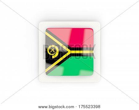 Square Carbon Icon With Flag Of Vanuatu