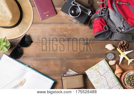 Travel Plan, Trip Vacation Accessories For Trip, Tourism Mockup
