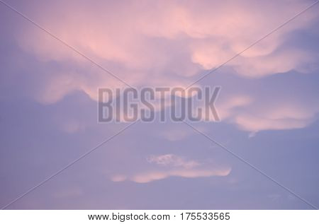 sunset  purple cloud and sky  dramatic color background
