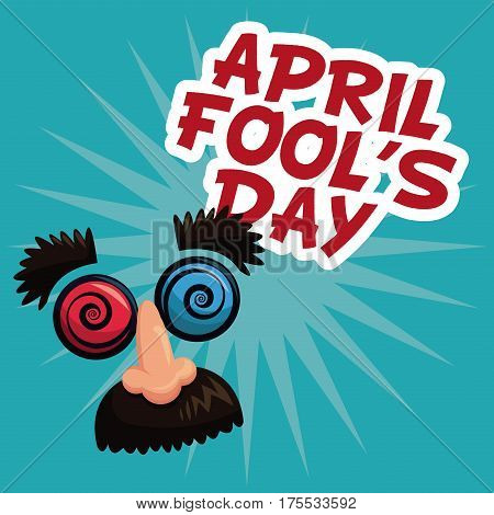 april fools day face prank text vector illustration eps 10