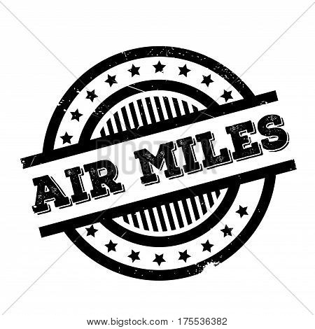 Air Miles rubber stamp. Grunge design with dust scratches. Effects can be easily removed for a clean, crisp look. Color is easily changed.