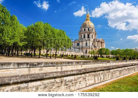 Paris With Les Invalides During Spring Time, Famous Landmark In France