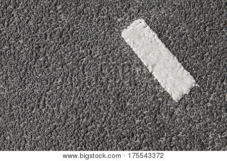 White Stripe On Dark Gray Asphalt