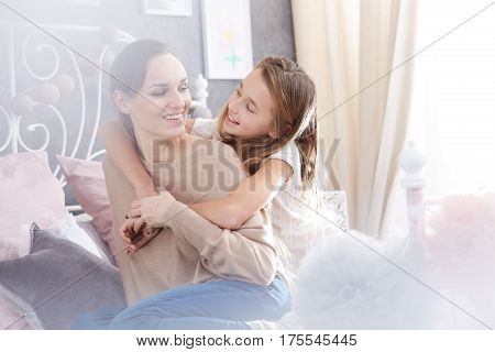 Single Mother And Daughter