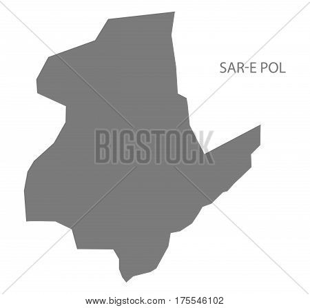Sar-e Pol Afghanistan map grey illustration silhouette