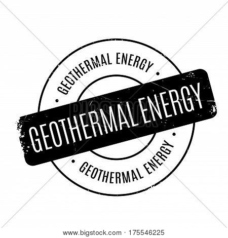 Geothermal Energy rubber stamp. Grunge design with dust scratches. Effects can be easily removed for a clean, crisp look. Color is easily changed.