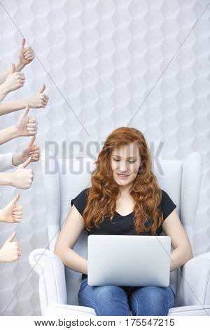 Woman Writing Blog