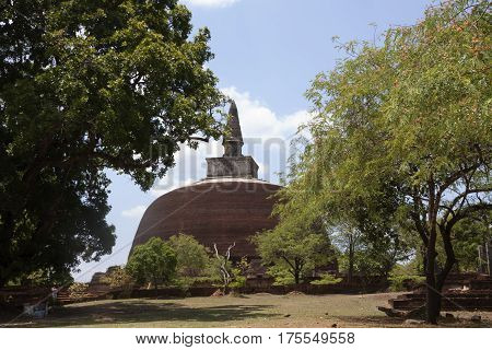 Kiri Vihara in Polonnaruwa or Pulattipura ancient city Kingdom of Polonnaruwa in Sri Lanka