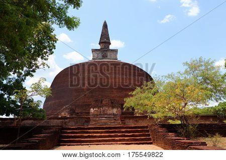 Kiri Vihara in Polonnaruwa or Pulattipura ancient city Kingdom of Polonnaruwa in Sri Lanka horizontal