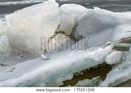 Ice Bound Kaunas Lagoon