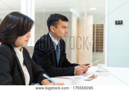 Business discuss in meeting room