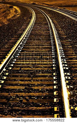 Railroad tracks for transportation and shipping cargo