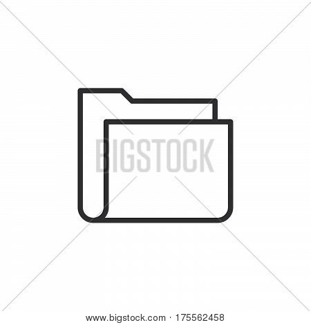 File folder line icon outline vector sign linear style pictogram isolated on white. Symbol logo illustration. Editable stroke. Pixel perfect