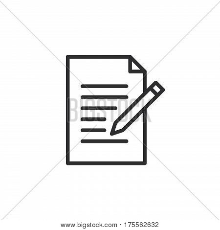 Contact form line icon. Write edit outline vector sign linear style pictogram isolated on white. Symbol logo illustration. Editable stroke. Pixel perfect