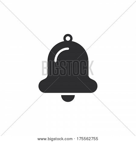 Bell icon vector filled flat sign solid pictogram isolated on white. Alarm notification symbol logo illustration. Pixel perfect