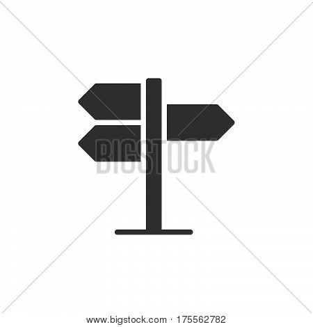 Signpost pointer icon vector filled flat sign solid pictogram isolated on white. Symbol logo illustration. Pixel perfect