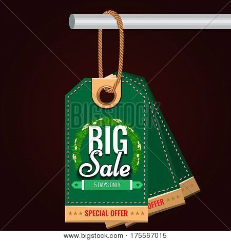 Special sale or discount offer tag banner. Green Organic food concept. Solid and Flat color style design vector