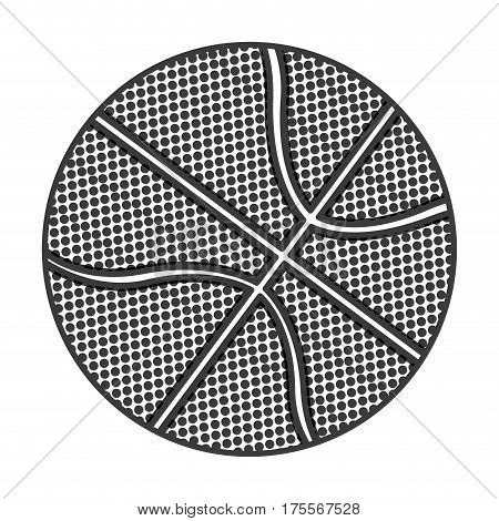 grayscale background with basketball ball vector illustration