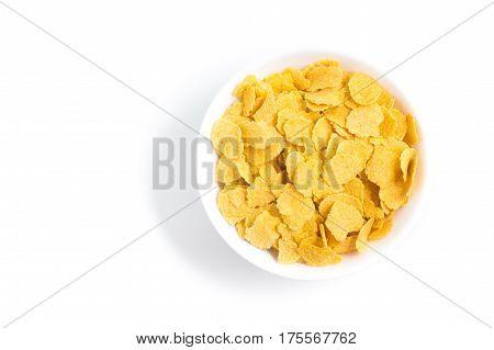 Corn Flakes Into A Bowl