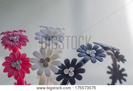 Headband floral print closeup crown, decorative, design,