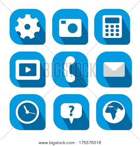 set of different web icons for mobile computer interface