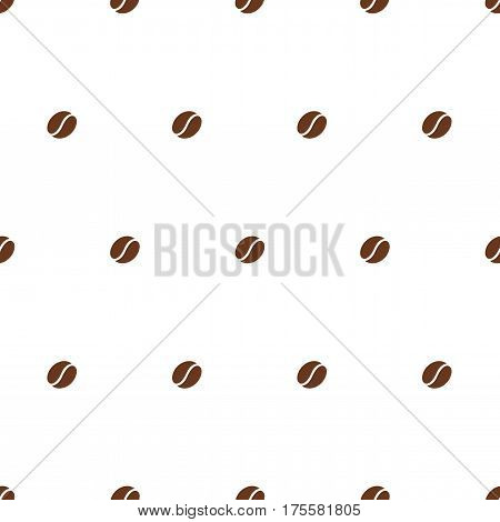 Coffee bean. Seamless vector pattern on white background