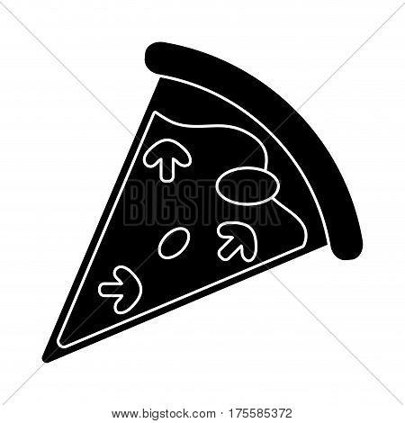 tasty pizza slice pictogram vector illustration eps 10