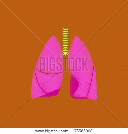 flat shading style icon lungs and trachea