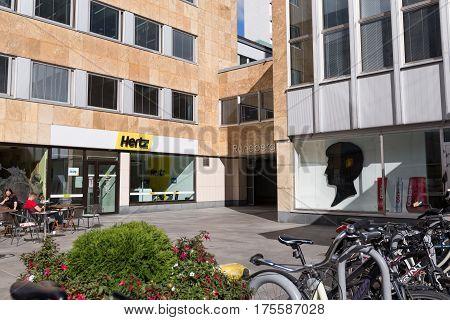Hertz Rental Car Office Exterior