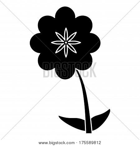 canna flower decoration silhouette vector illustration eps 10