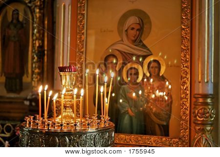 Candles Over Icon