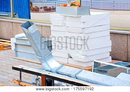 Steel Ventilation Duct And Brick