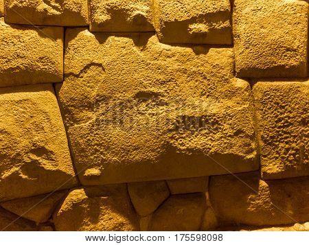 12 sided Inca Hatunrumiyoc stone, Cuzco Peru