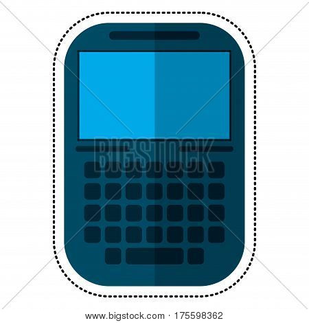 smartphone mobile technology display shadow vector illustration eps 10