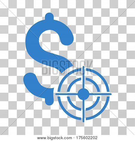Business Target icon. Vector illustration style is flat iconic symbol cobalt color transparent background. Designed for web and software interfaces.