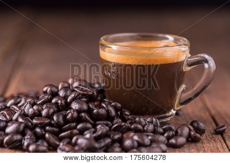 coffee on the wooden background coffee background concept