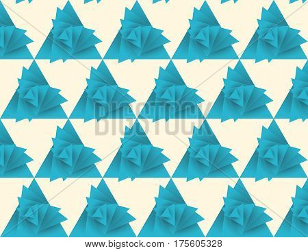 Seamless triangle pattern whirlwind, vector illustration, eps 10