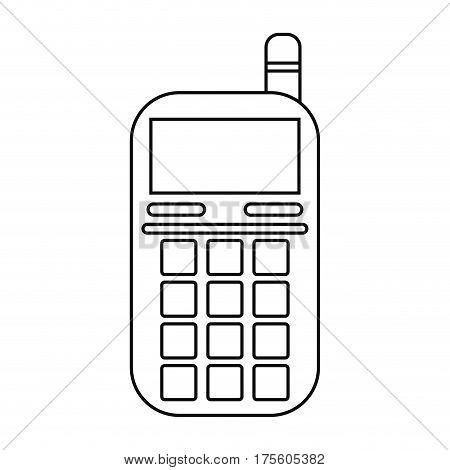 smartphone telephone technology line vector illustration eps 10