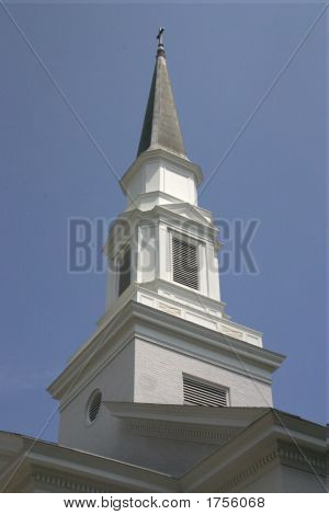 Church Steeple And Roof Line