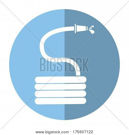 garden water hose shadow vector illustration eps 10