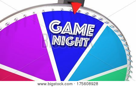 Game Night Show Wheel Spinning Fun Playing 3d Illustration