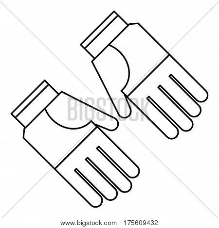 gardening gloves protection thin line vector illustration eps 10